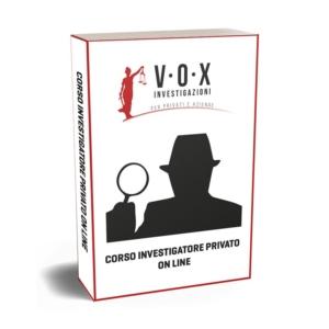 corso investigatore privato